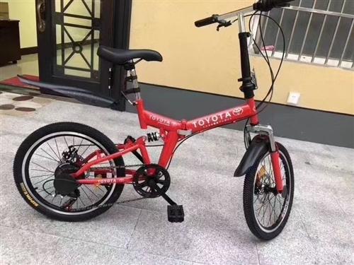 便宜出!丰田20寸折叠自行车,骑起来是超轻便!