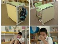 可折叠学生课桌,桌床一体,提升校区场地利用率