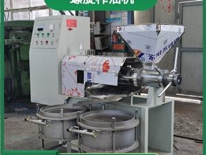 油坊加工花生油菜籽油食用油冷热两用新型螺旋榨油机