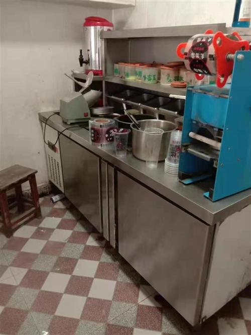 奶茶店水吧台,九成新,长一米八,房租到期低价转让!