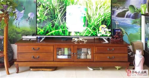 全实木电视柜,2米长,50厘米高,40厘米宽,四抽