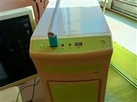 低价处理台式机一套,24寸液晶显示器