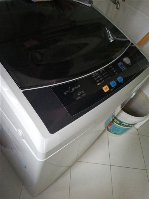 美的6.5公斤波轮式全自动洗衣机,8成新,刚用两年