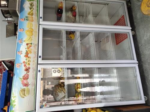 三开门保鲜柜 单开保鲜柜 水果货架 收银机