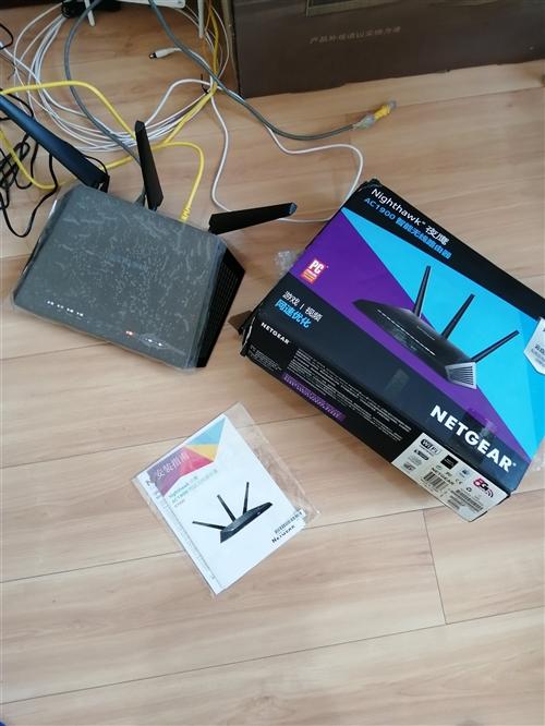 网件r7000,出卖,自用的官方固件系统还没升级,原装电源说明书,带跟网线,