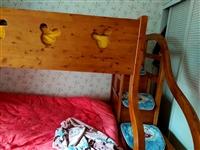 实木上下床,年前刚买的,9成新,换家具处理,