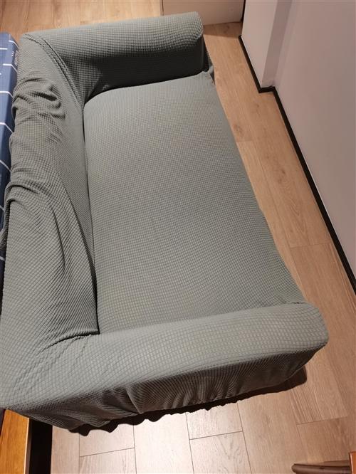 几乎**1.1米实木腿棉麻沙发,送**沙发套