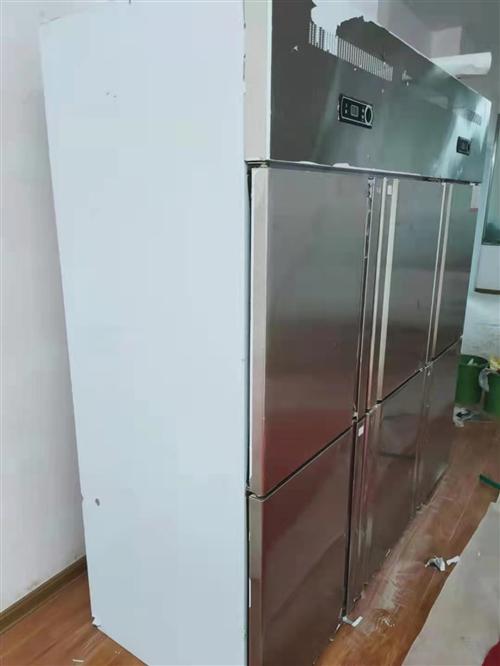 出售乐创品牌六开门冰柜,上面冷藏,下面冷冻!基本**!有需要的联系