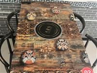 9成新火锅桌带电磁炉一桌4椅。共8套