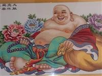 弥勒佛(笑口常开),本人绣了五个月,结有缘人。 电话:13806471567