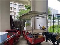 二手電動三輪小吃車 雨棚自己做的花了幾大百 買了過后做了一個月生意 電瓶九成新 車子狀態完好 帶兩個...