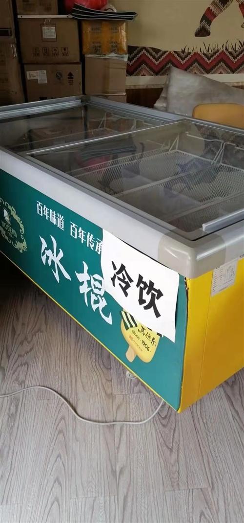 出售一台商用大容量冰柜/岛柜/卧式展示冷冻柜。长1.8m,九九成新??品牌产品,只存放过雪糕,干净无...