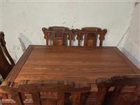 缅甸花梨 红木家具一套(共16件)四人位红木长椅1+单人位座椅4+大茶几1+侧方几2+电视柜1+六人...