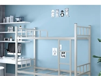 现有铁质高低床十三套,适合学生宿舍,民工宿舍