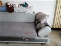 贵妃布艺沙发,款式新颖,长5米拐角能躺 7成新