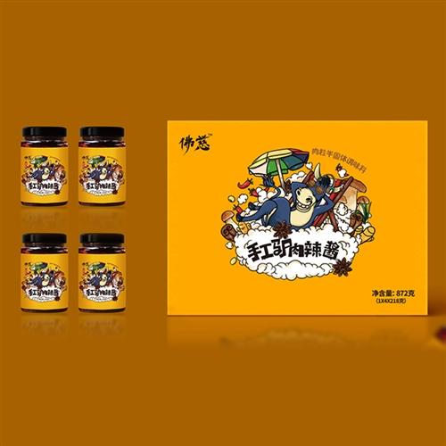 佛慈·驴肉辣酱1瓶(拍4瓶赠送礼盒)