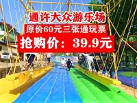 39.9搶原價60元【通許大眾游樂場】門票三張(通玩票)