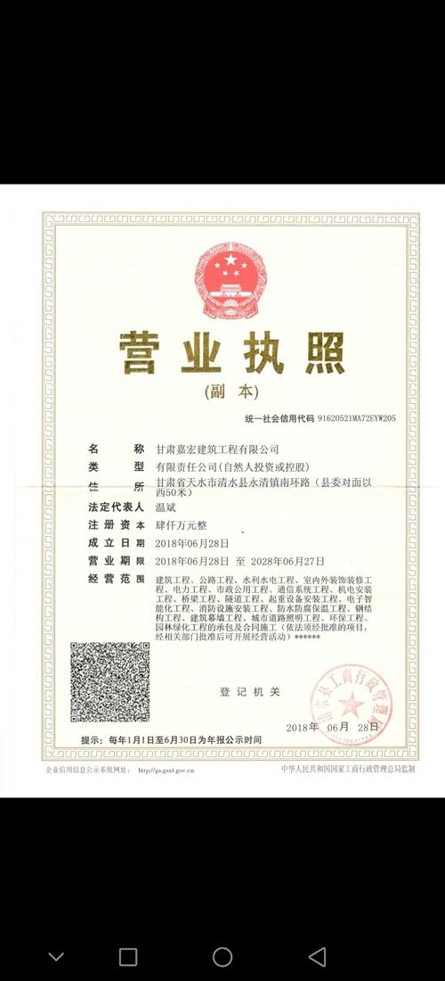 清水县中恒实业有限责任公司