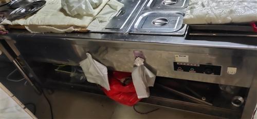 厨房用品转让!金锣肉食专用冷藏柜!饭菜保温台!蒸饭车!全部低价!