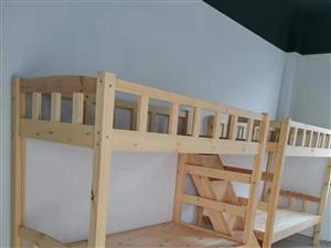 學校松木上下床,宿舍松木高低床廠家,員工實木床批發