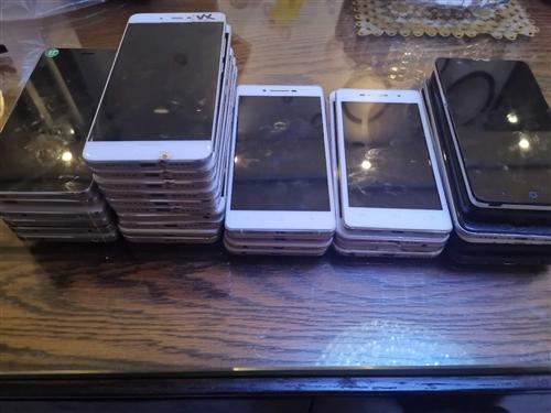 30部工作室手机,6部小米4,8部小米5S,一部小米5,一部红米6,1部苹果6,3部oppo,4部v...