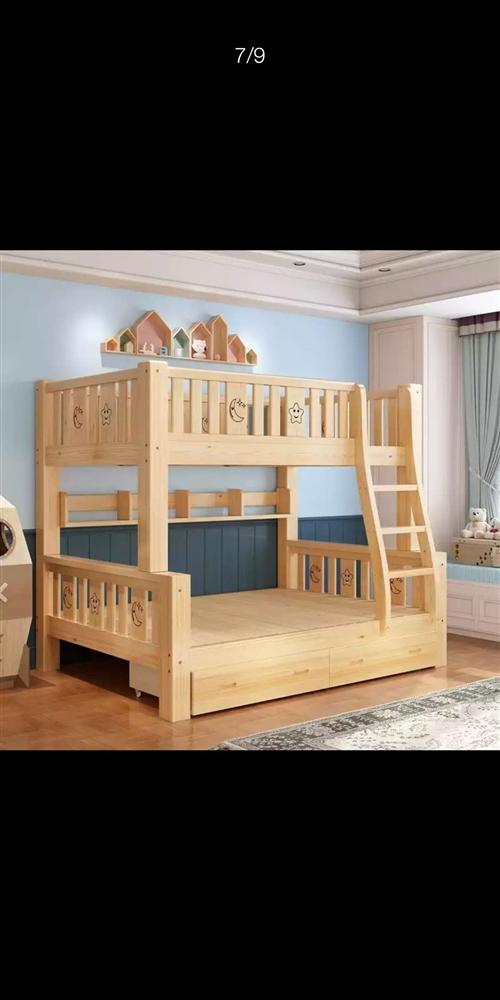 实木上下铺,高低床,实木子母床