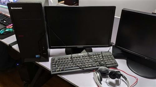 联想办公电脑一台,主机+显示器+键盘鼠标+网线,办公,传奇,大话西游,dnf可运行,功能完整,需要的...