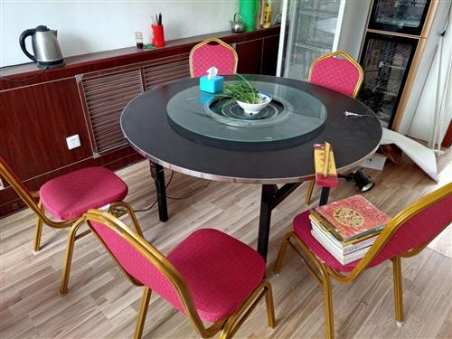 酒店桌子带8把椅子带电磁炉全套
