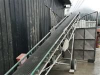 正反雙向輸送機,長7米,高度上下可調,三相電,兩個電機,9成新。