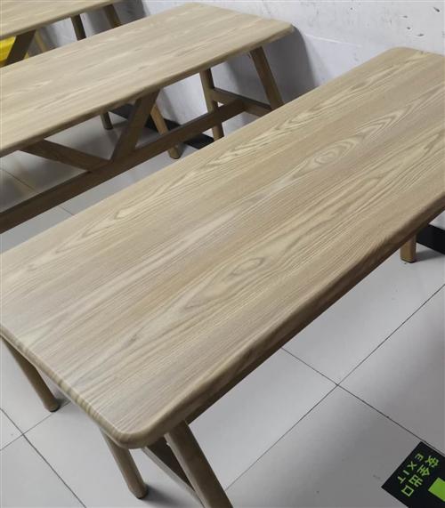 书桌,实木板,8张