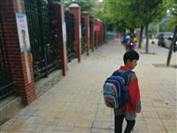 新县首府学校门口北路新铺的路面上面怎么这么多沙子!孩子走在上面很容易打滑!早上就有学生摔倒!这样很危