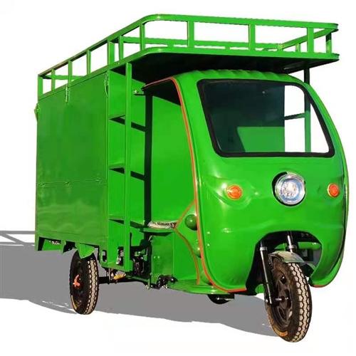 快递车拉纸壳收纸废纸废品资源回收。电动箱式快递三轮车 9成新 宽1.2车厢长1.8两辆。4500/...