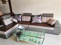 售沙发茶几一套,八成新,质量很好无破损,600元出,在城关,需自提。
