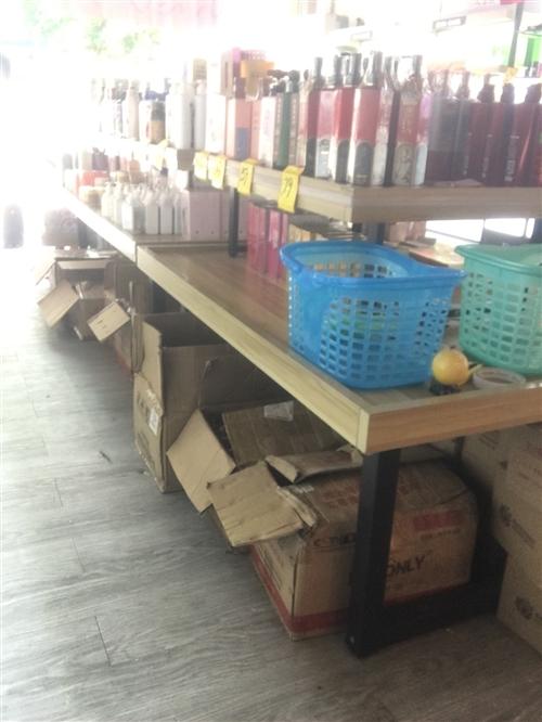 有护肤品,洗护用品,货架,收银台,全部低价处理!