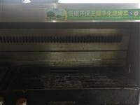 烧烤店没开,低价出售无烟净化烧烤车,展示柜两个