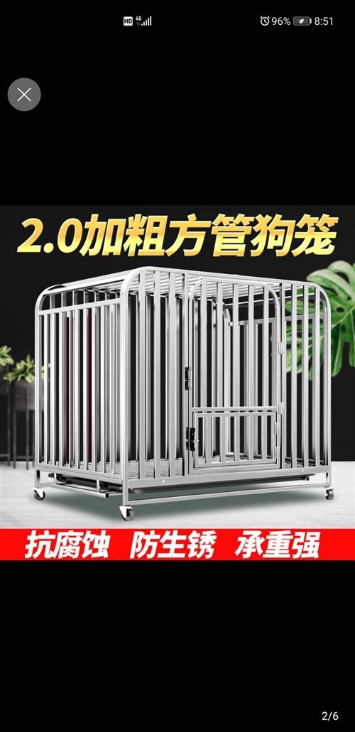 新买的全管笼子,到家后发现买大了,没地方放,长宽高是125*95*115,放阿拉斯加等大型犬根本没问...