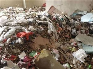 小区楼下空地被当做垃圾场