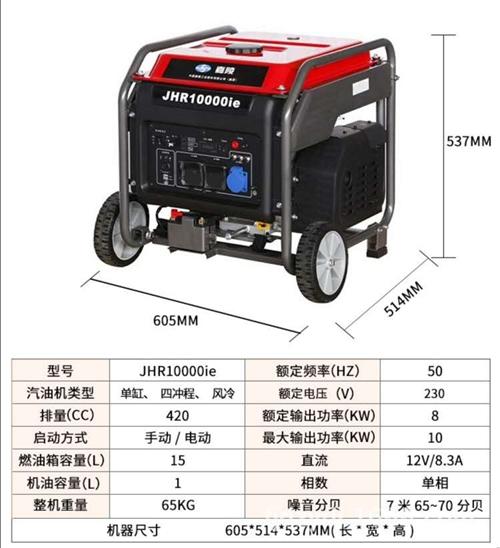 标准嘉陵变频8000w至10000W发电机,可调节大小功率,嘉陵发电机省油,参数看图1,可用于热水器...