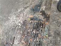 邹城平阳西路城中城南头路上下水道塌陷,有人管吗
