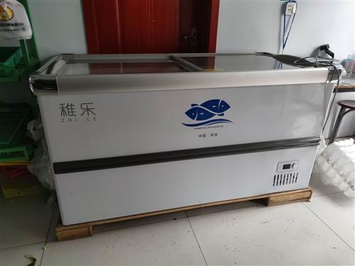 九成新商用大容量卧式冷柜玻璃门保鲜冷冻两用冷藏柜