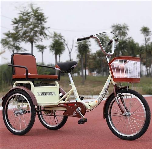 脚蹬式三轮车,又轻又稳又方便,舒适座椅安全带,掀开座椅大置物匡,