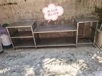 不锈钢厨房置物架(中间可以放煤气炉 右下角可以放煤气瓶 板材很厚  高0.6米 款2.48米 适合做...