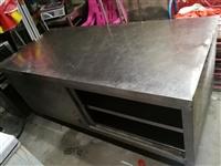 出一台加厚型不锈钢柜子工作台,承重几千斤,桌面能承受各种操作,规格:180*80*80,几千买的,现...