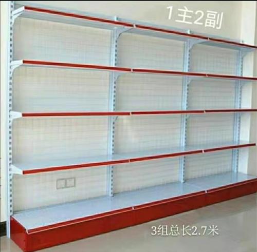 便利店货架,9成新,3.6米长、1.8米高,需自提。