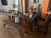 实木老船木,带泡茶机