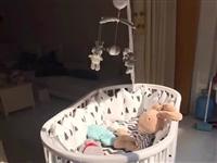 转让闲置婴儿床和电动摇篮,9.5新以上,用的次数有限,转给需要的朋友…见图,详情可以上淘宝搜索,打包...