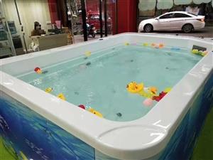 母婴店游泳馆大池子低价出售,八成新,尺寸2米*3米,小池子3个,尺寸1.2*85*95,柴油加热设备...